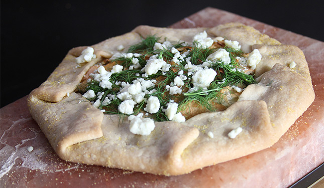 Savory Apple Fennel Tart
