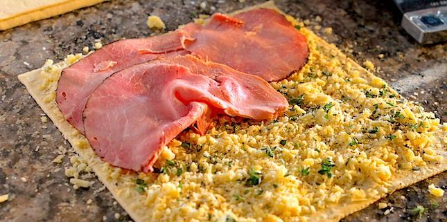 Ham & Cheese Puff Pinwheels