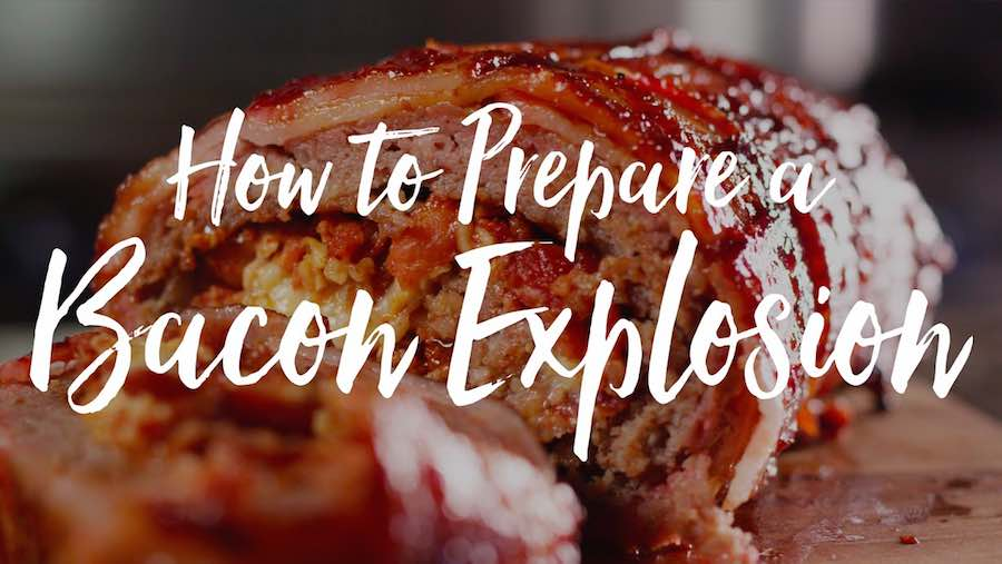 video bacon explosion the sauce by all things bbq. Black Bedroom Furniture Sets. Home Design Ideas