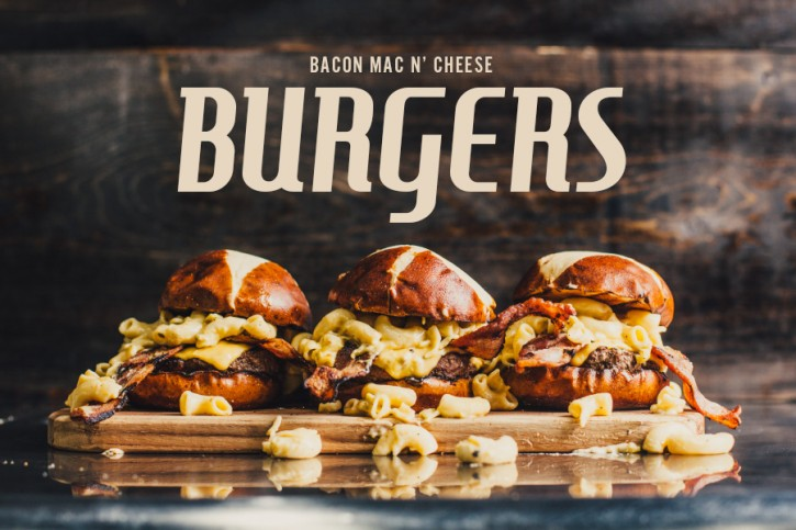 Bacon Mac n Cheese Burgers