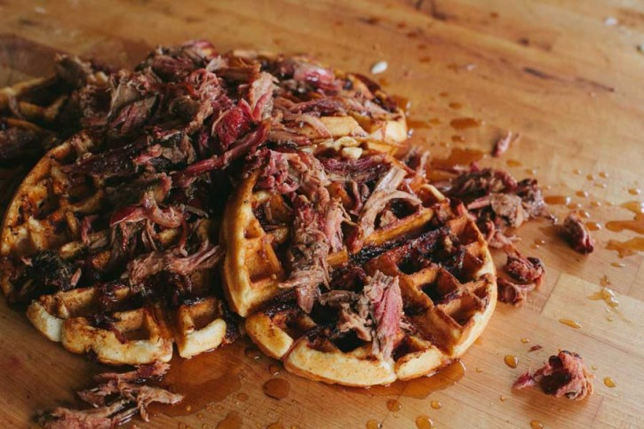 Pulled Pork Waffles