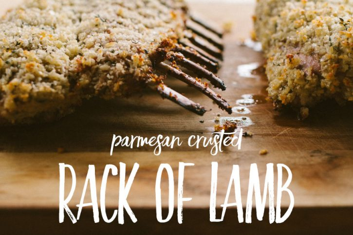 Parmesan Crusted Rack of Lamb