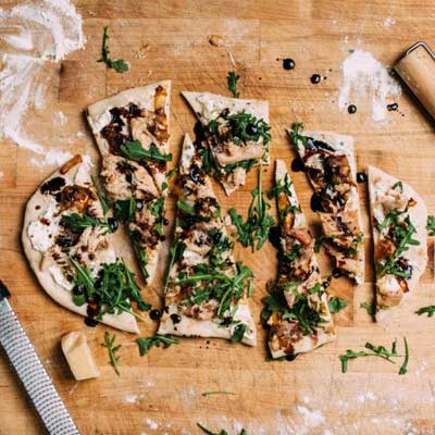 Smoked Chicken Grilled Flatbread