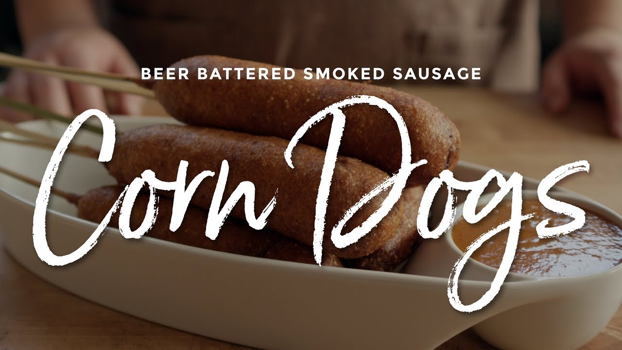 Beer Battered Smoked Sausage Corn Dogs Recipe