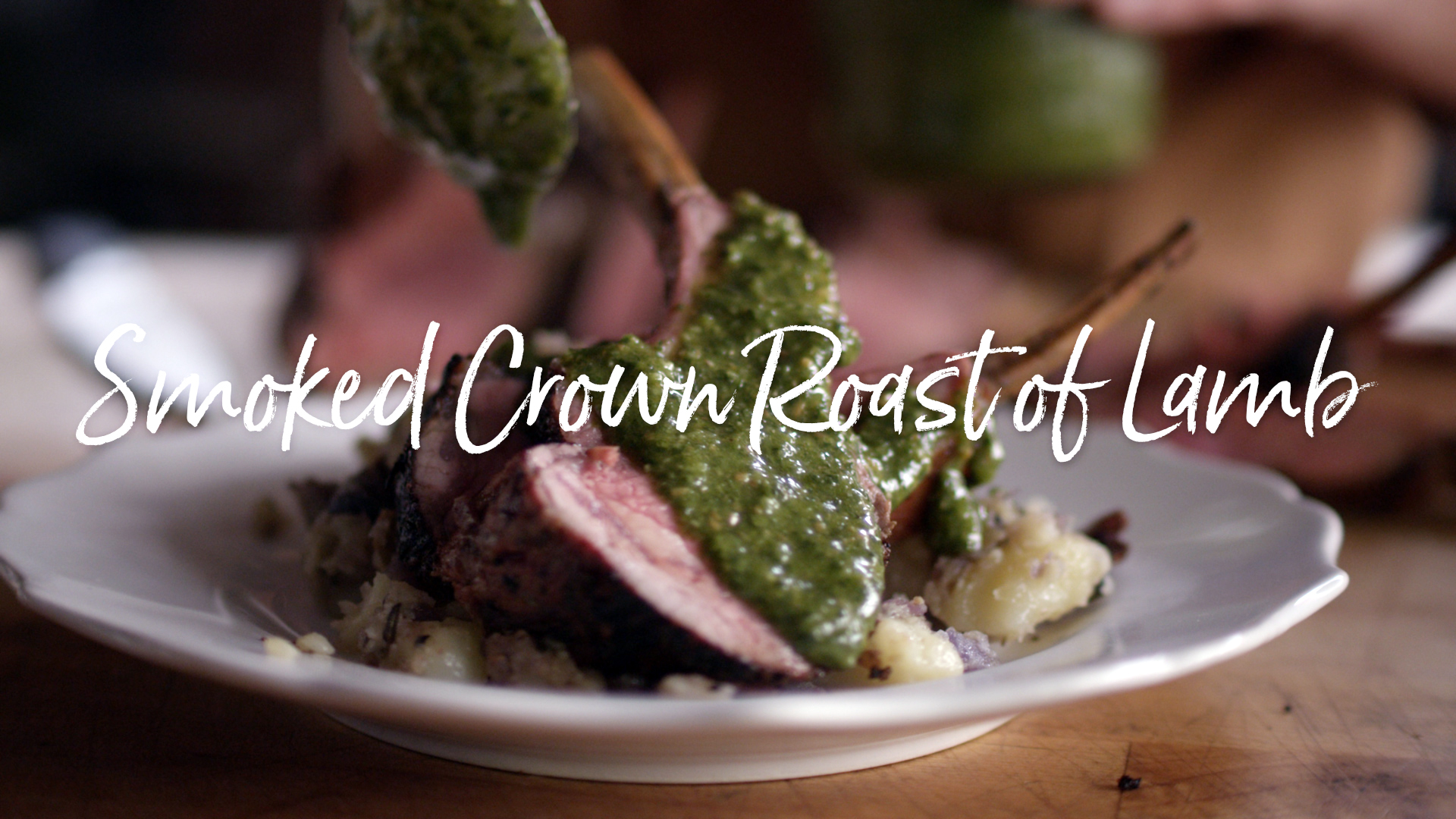 Smoked Crown Roast of Lamb