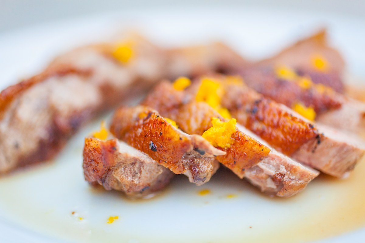 Duck a l'Orange on the Grill