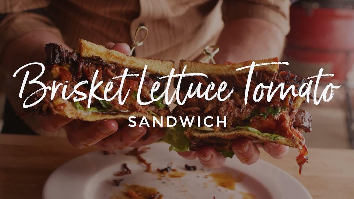 Brisket Lettuce Tomato Sandwich, Kamado Joe Classic II