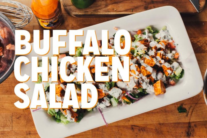 Buffalo Chicken Grilled Salad