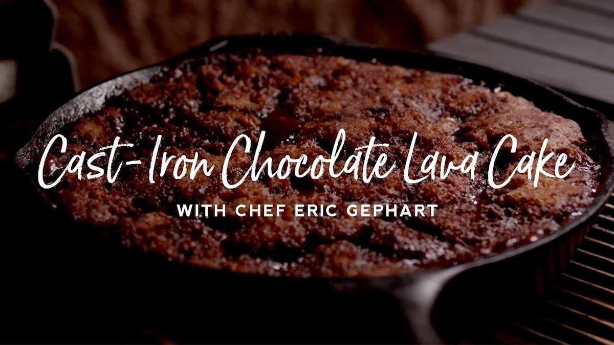Cast Iron Chocolate Lava Cake