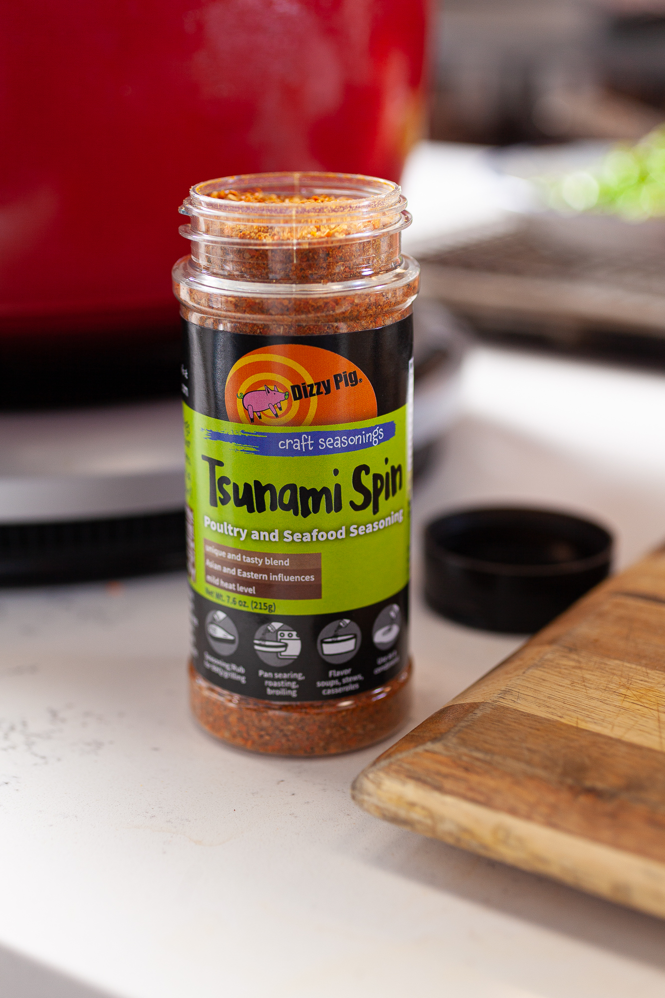 Tsunami Spin: a unique seasoning with Asian flavors that is sweet and savory!