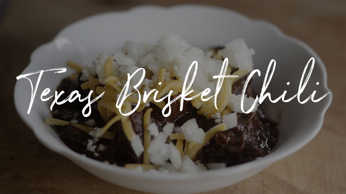 Texas Brisket Chili Recipe