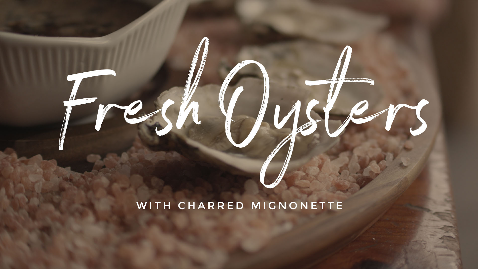 Fresh Oysters with Charred Mignonette Recipe