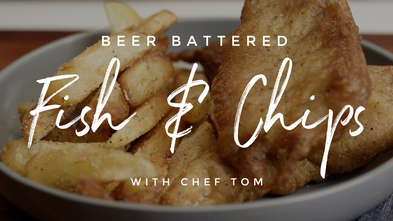Beer Battered Fish & Chips Recipe