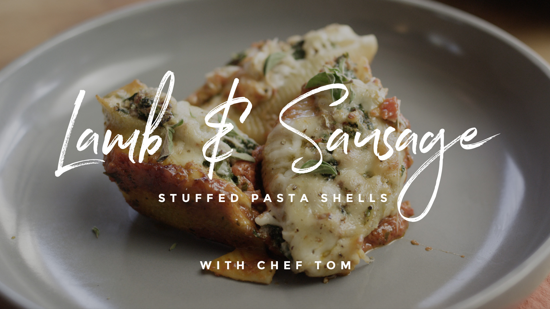 Lamb & Sausage Stuffed Pasta Shells Recipe