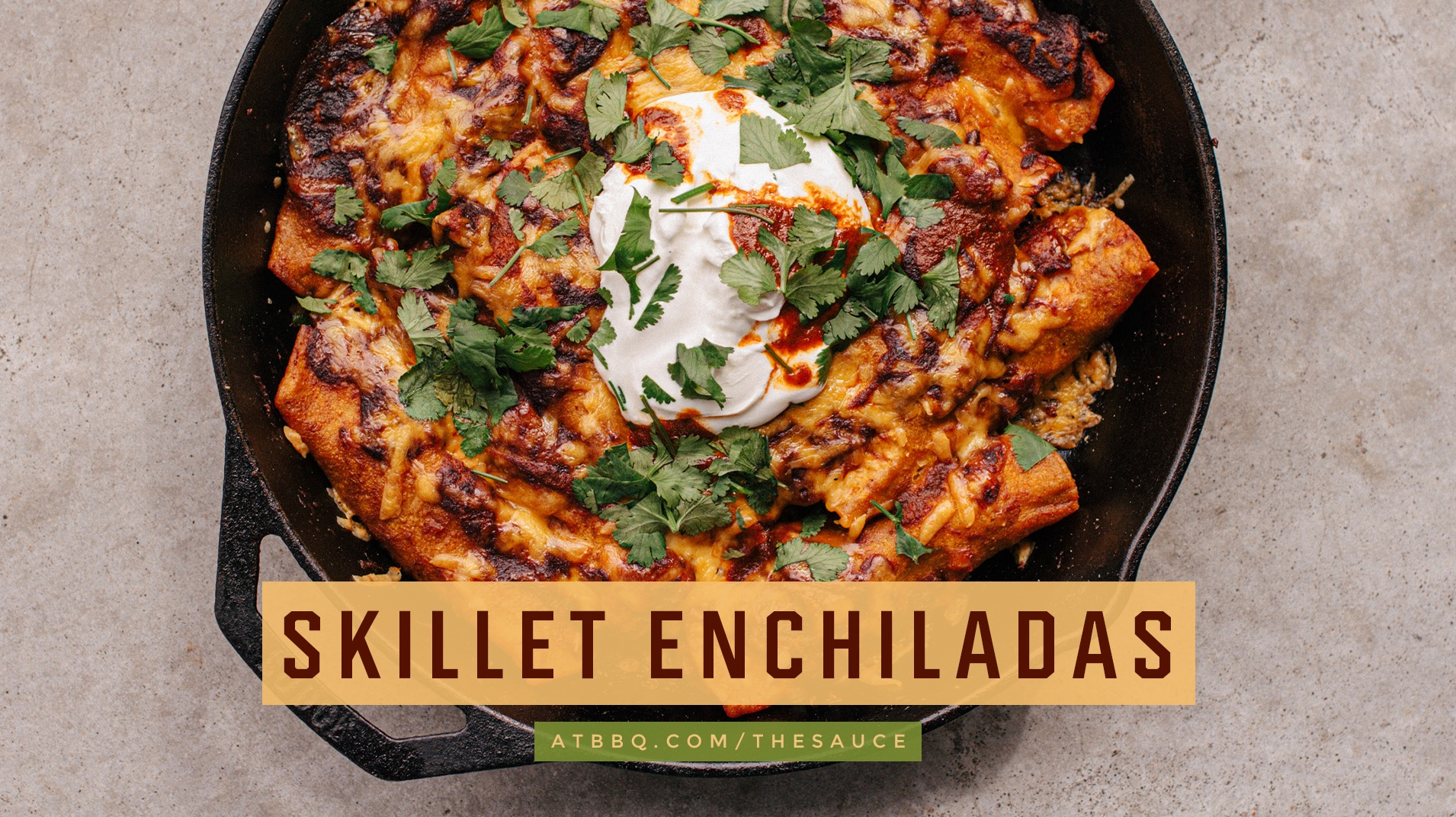 Red Chili Skillet Enchiladas