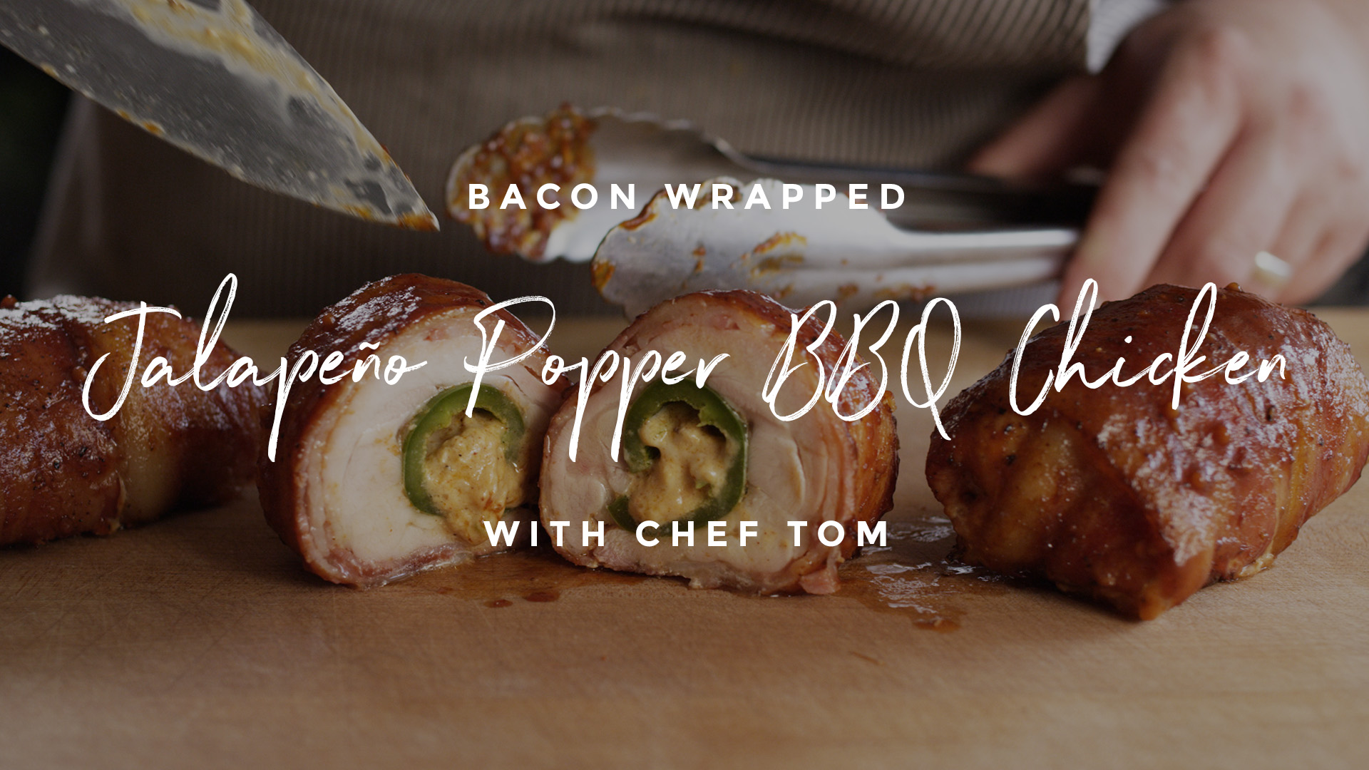 Bacon Wrapped Jalapeño Popper Stuffed Barbecue Chicken Recipe